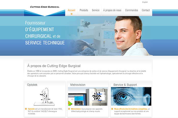 Site Web - Cutting Edge Surgical
