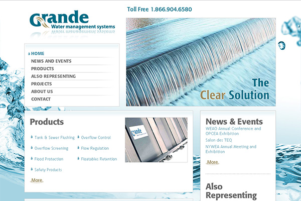 Site Web - Grande water management systems