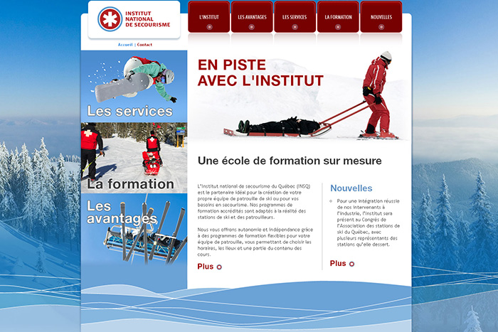 Site Internet - Institut National de Secourisme